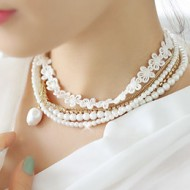 Lace & Pearl Necklace