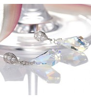 Polygon Drop Swarovski Earring